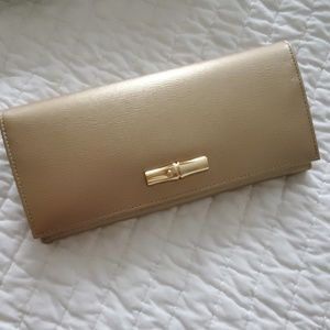 Longchamp Gold Wallet